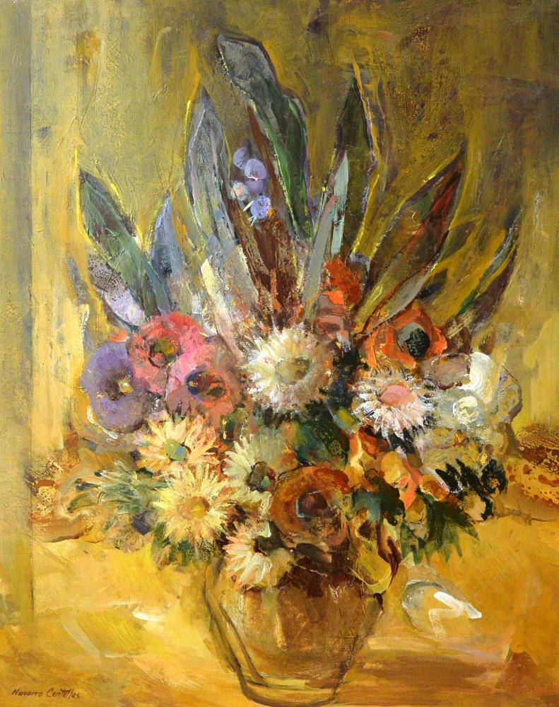 21.Jarrón con flores (93x72)-1980