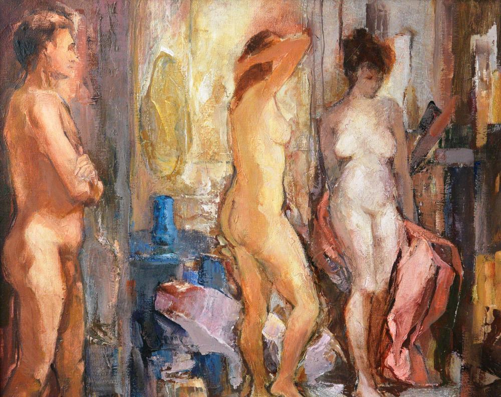 309.Mujeres y hombre (61x50)-1978