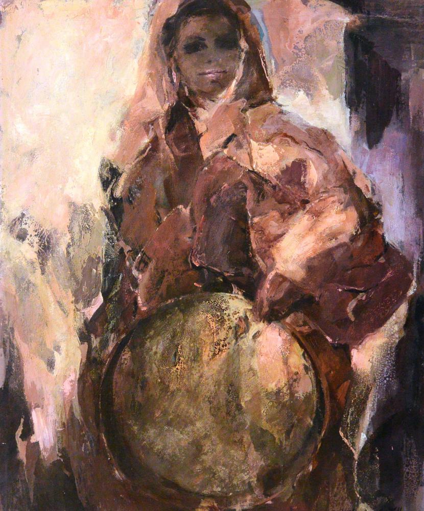 47.Mujer con pandero (81x65)