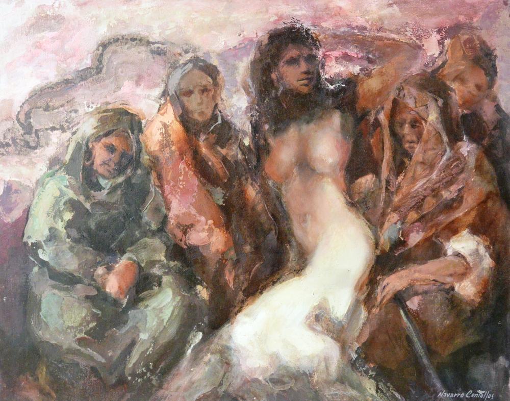 53.La joven y las ancianas. (81x65)